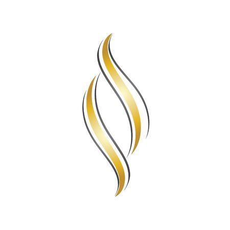 hair logo and symbol design vector template