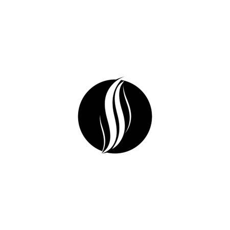 hair logo template design vector