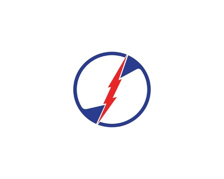 lightning thunderbolt electricity logo design template