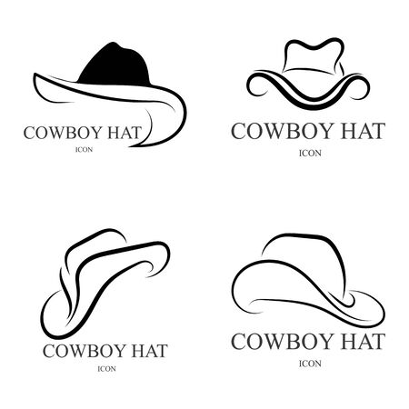 cowboy hat icon vector design template