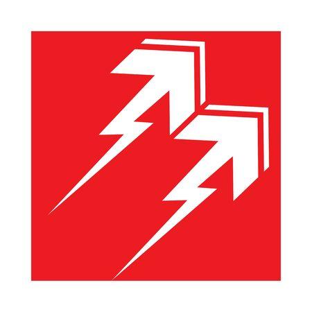 Arrow vector illustration icon  Template design Иллюстрация