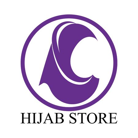 hijab vector icon design template