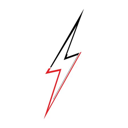 lightning thunderbolt electricity design template