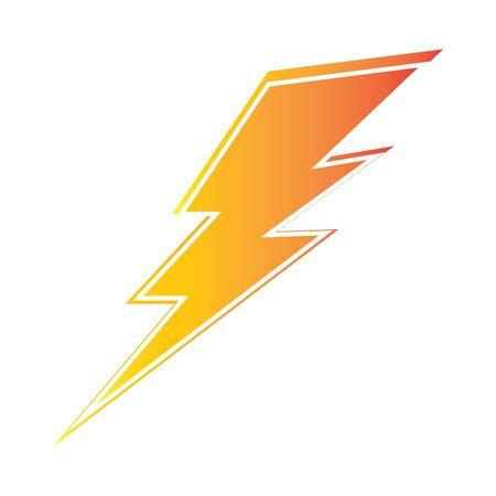lightning thunderbolt electricity design template Vector Illustratie
