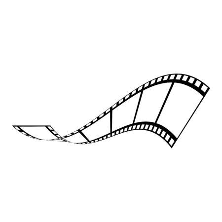 abstrakte Filmikonenvektorillustrations-Designschablone Vektorgrafik