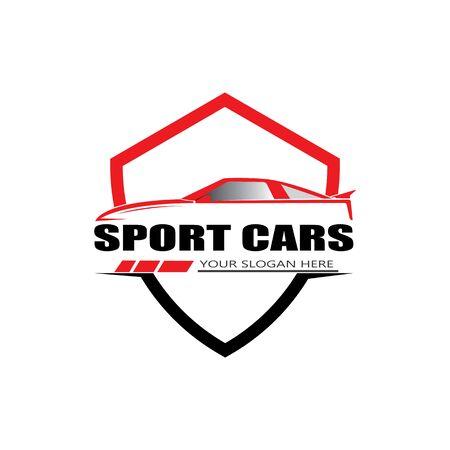 sport car logo template design vector Illustration