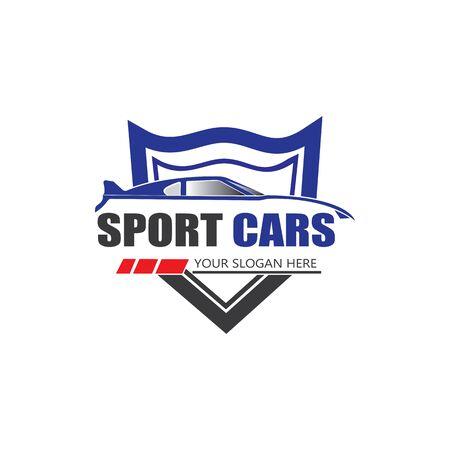 sport car logo template design vector