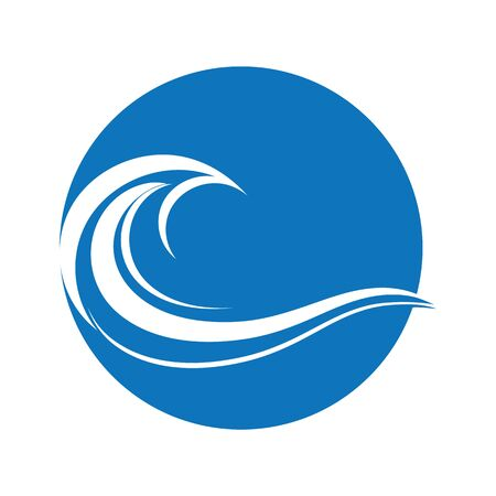 Wasserwellensymbol und Symbol Logo Vorlage Vektor