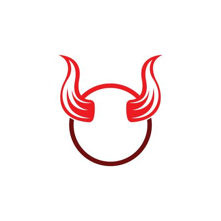 Devil horn vector icon logo design illustration template