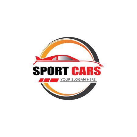 sport car logo template design vector - Vector