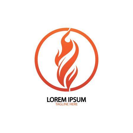 fire flame logo icon vector design template Logó