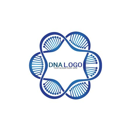 DNA vector logo design template.modern medical logotype.laboratory science icon symbol.colorful pharmacology sign-vector