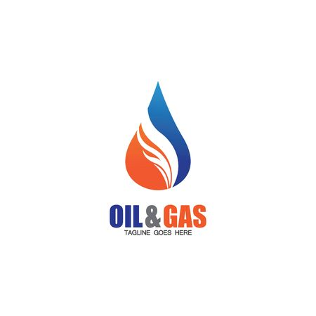 Oil and Gas logo design vector icon template