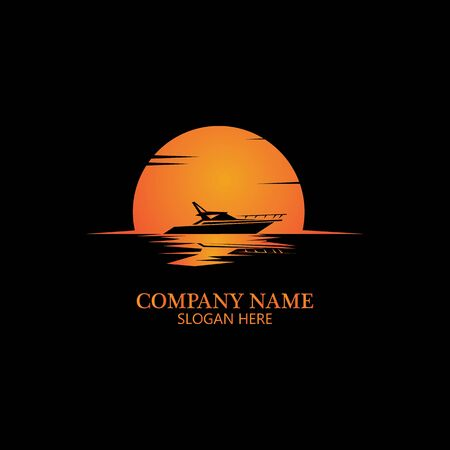 boat logo template,ship icon design,illustration element vector