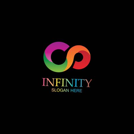 Infinity Design Vector icon illustration Logo template design Logo