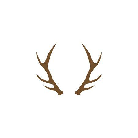 Deer Antlers Logo Template Illustration Design. Logo
