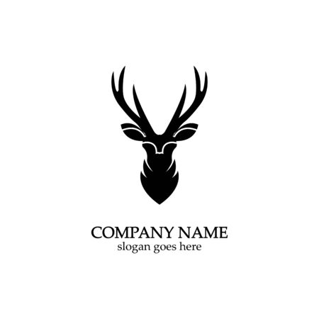 Deer head Logo Template vector icon illustration design ЛОГОТИПЫ