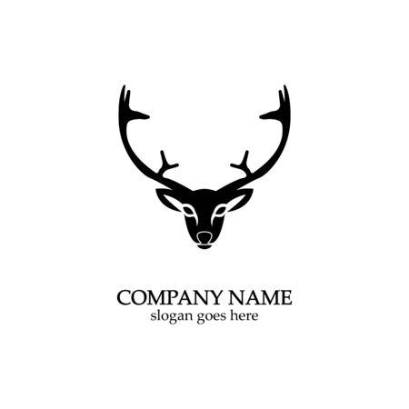 Deer head Logo Template vector icon illustration design