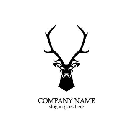 Deer head Logo Template vector icon illustration design 스톡 콘텐츠 - 148324608
