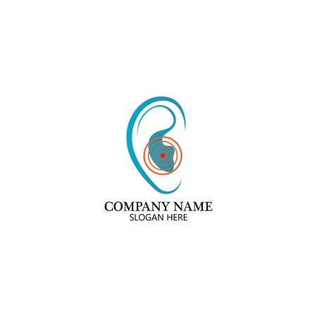Hearing Logo Template vector icon design