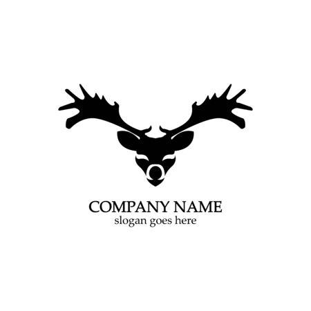 Deer head Logo Template vector icon illustration design 스톡 콘텐츠 - 148325947