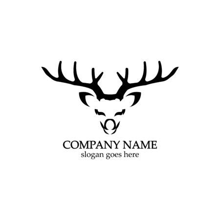 Deer head Logo Template vector icon illustration design 일러스트