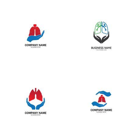 lung health and care logo template,emblem,design concept,creative symbol,icon,vector illustration.