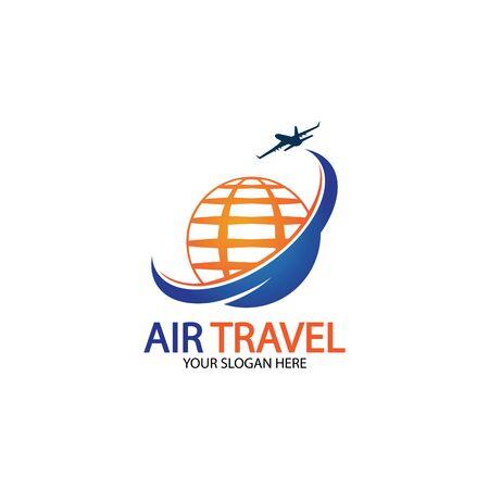 Air Travel logo vector icon design template-vector