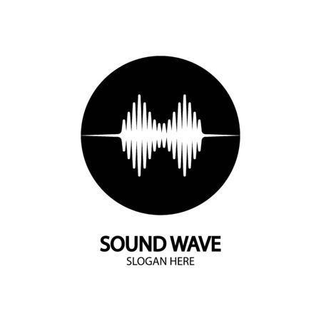 Sound waves vector illustration design template