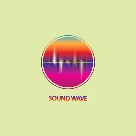 Sound Wave. Colorful sound waves for party, DJ, pub, clubs, discos. Audio equalizer technology. illustration Vector Illustratie