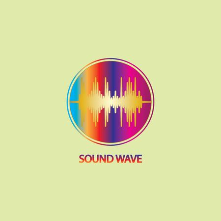 Sound Wave. Colorful sound waves for party, DJ, pub, clubs, discos. Audio equalizer technology. illustration