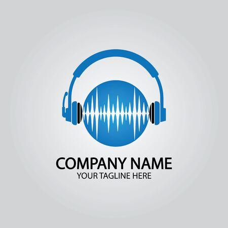 Headphone DJ, Music Studio Recording, Sound wave Design Inspiration