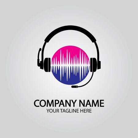 Headphone DJ, Music Studio Recording, Soundwave  Design Inspiration
