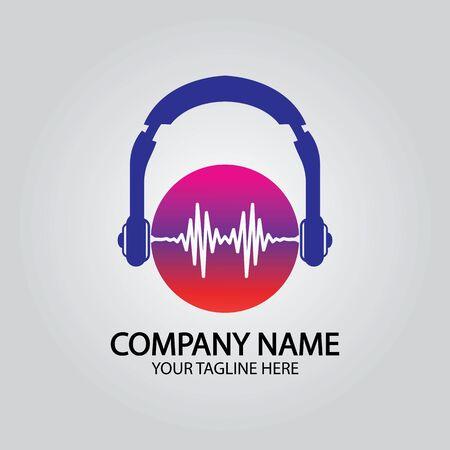 Headphone DJ, Music Studio Recording, Soundwave   Design Inspiration Illustration
