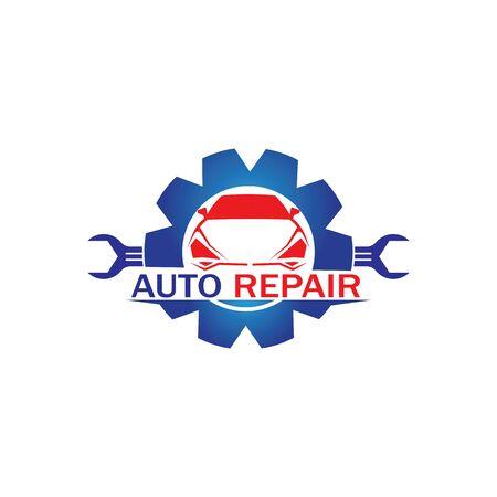Auto-Reparatur-Logo-Vektor. Vorlage für das Automobil- und Transportlogo