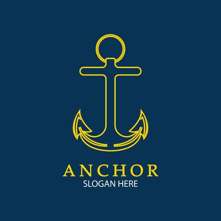 Anchor Logo Design Vector. Symbol of maritime icon or ocean business
