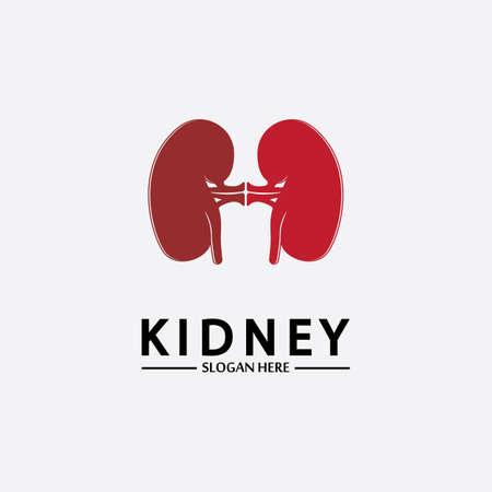 Health and Care Kidney Logo Design Concept. Urology Logo Vector Template 스톡 콘텐츠 - 152695429