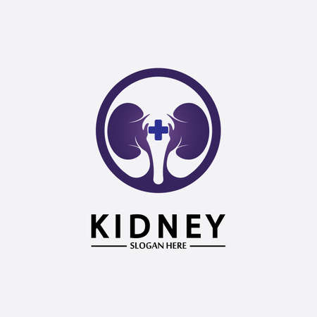 Health and Care Kidney Logo Design Concept. Urology Logo Vector Template 스톡 콘텐츠 - 152695438