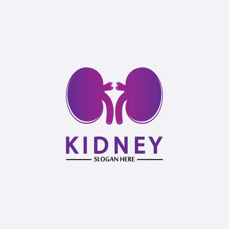 Health and Care Kidney Logo Design Concept. Urology Logo Vector Template 스톡 콘텐츠 - 152695516