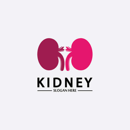 Health and Care Kidney Logo Design Concept. Urology Logo Vector Template 스톡 콘텐츠 - 152695517