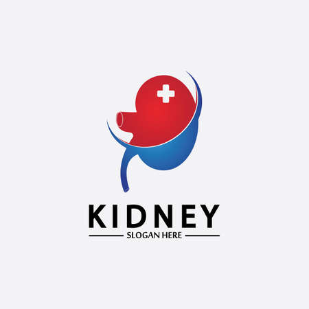 Health and Care Kidney Logo Design Concept. Urology Logo Vector Template 스톡 콘텐츠 - 152695551