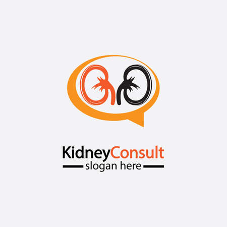 Kidney Consult logo designs concept vector, Kidney Healthcare logo template,Urology logo vector template.