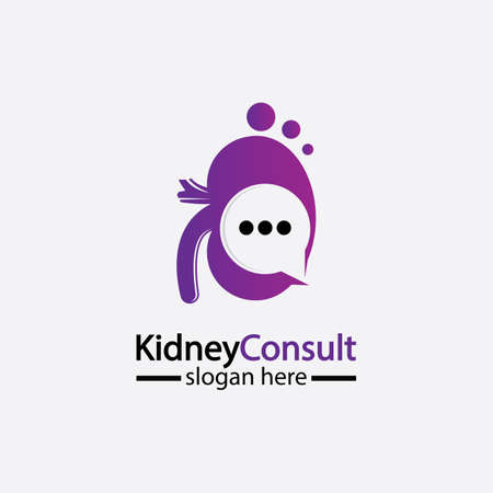 Kidney Consult logo designs concept vector, Kidney Healthcare logo template,Urology logo vector template. 스톡 콘텐츠 - 152695612