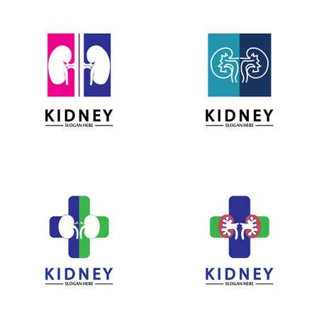 Health and Care Kidney Logo Design Concept. Urology Logo Vector Template 스톡 콘텐츠 - 152695645