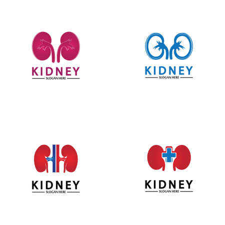 Health and Care Kidney Logo Design Concept. Urology Logo Vector Template 스톡 콘텐츠 - 152695650