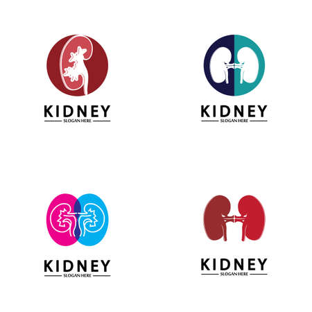Health and Care Kidney Logo Design Concept. Urology Logo Vector Template