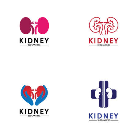 Health and Care Kidney Logo Design Concept. Urology Logo Vector Template 스톡 콘텐츠 - 152695652
