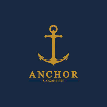Anchor logo and symbol template icons app vector image 일러스트