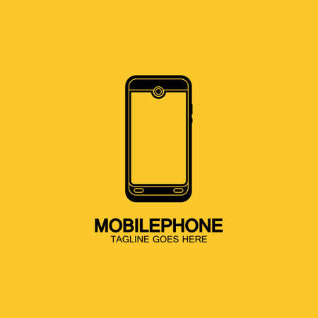 Mobile phone vector icon logo template concept illustration. Smartphone creative sign. Modern technology. Cellphone symbol. Tablet PC icon. Design element. 일러스트
