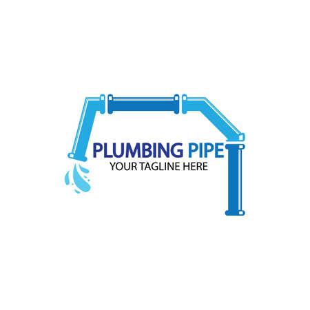 Pipe Plumbing logo vector Design Template,Plumbing logo vector design template. water pipe logo design.Leaking water logotype,Design Concept, Creative Symbol, Icon 일러스트